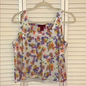 Floral Sequin Crop Top